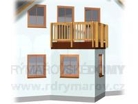 Arkýř trojúhelníkový s balkonem