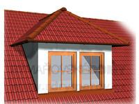 Dvouokenní vikýř s valbovou střechou
