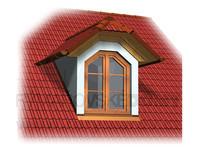 Jednookenní vikýř se sedlovou střechou