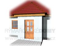 Zádveří s valbovou střechou